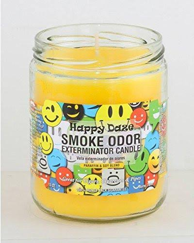 Smoke Odor Exterminator 13oz Jar Candles Happy Daze