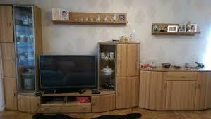wohnwand wohnzimmer massivholz mit sideboard porta n w beleuc