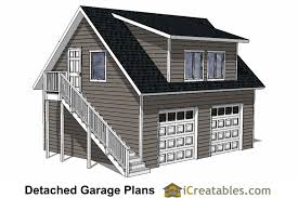 Garage Plans with Apartment Detached Garage Plans iCreatables