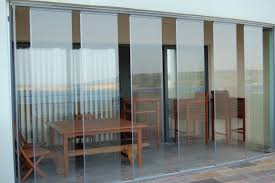 Patio Door Curtains And Blinds Ideas by Drapes For Sliding Glass Doors With Wood Table And Tile Floor