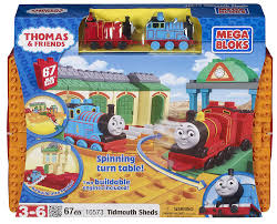 Thomas The Train Tidmouth Shed Instructions by Amazon Com Megabloks All Aboard At Tidmouth Sheds Toys U0026 Games