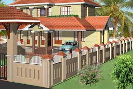 Landscaping Can Also Part Compound Wall Design Providing - DMA ... Amazing Kitchen Backsplash Glass Tile Design Ideas Idolza Modern Home Exteriors With Stunning Outdoor Spaces Front Garden Wall Designs Boundary House Privacy Brick Walls Beautiful Decorating Gate Wooden Fence Fniture From Wood Youtube Appealing Homes Of Compound Pictures D Padipura Designed For Traditional Kerala Trends And New Joy Studio Gallery The