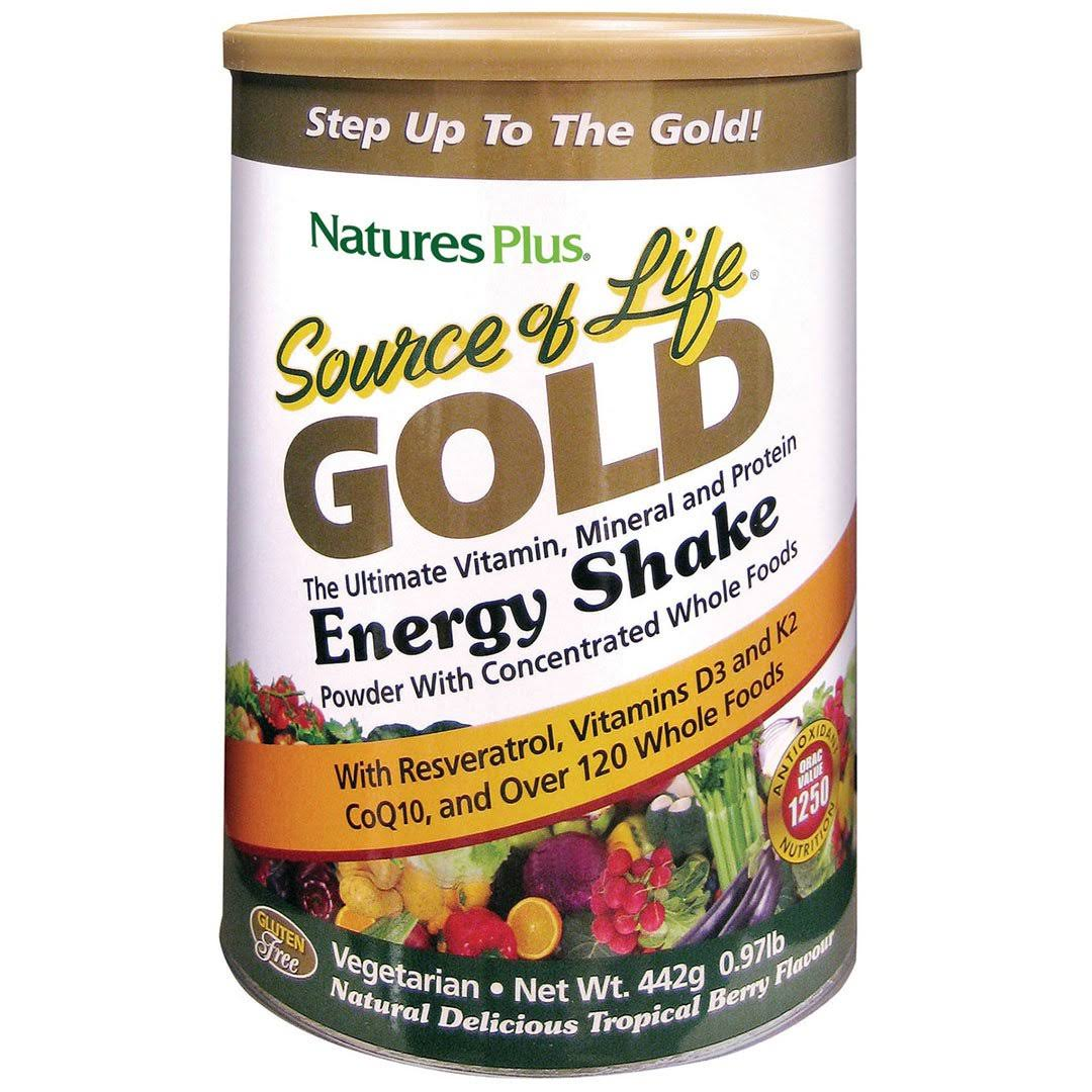 Natures Plus Souce Of Life Gold Energy Shake - Tropical Berry, 0.4kg