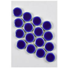 Home Depot Merola Penny Tile by Merola Tile Hudson Penny Round Cobalt Porcelain Mosaic Tile 3 In