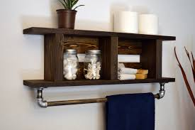 Bathroom Wall Shelves Creative Towel Rack Ideas Shelf With For Bar ... Bathroom Cabinet With Towel Rod Inspirational Magnificent Various Towel Bar Rack Design Ideas Home 7 Ways To Add Storage A Small Thats Pretty Too Bathroom Bar Ideas Get Such An Accent Look Awesome 50 Graph Foothillfolk Archauteonluscom Modern Bars Top 10 Most Popular Rail And Get Free For Bathrooms Fancy Decorative Brushed Nickel Racks And Strethemovienet