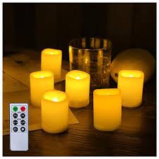 24 led tealights set flickering tealights candles battery
