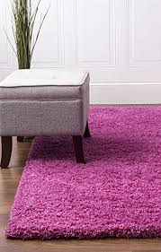 Amazon Pink Shag Rug 5 Feet by 8 Feet 5x8 Solid & Thick