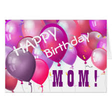 Happy Birthday Pink Balloons with Role A05 MOM Card