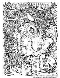 Gorgeous Horse Dream Catcher Zentangle Coloring Page By Deborah Muller ChubbyMermaid