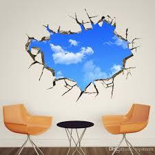 creative 3d wall decals blue sky write cloud wall sticker art