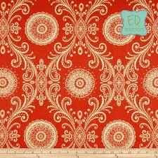 Waverly Fabric Curtain Panels by Hand Crafted 108l X 50w Waverly Mango Orange Reflective Damask