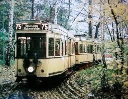 Berliner Kã Che Linie 75 An Der Endschleife Spandau 1963 Berlin