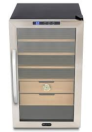 Cigar Cabinet Humidor Uk by Amazon Com Whynter Chc 251s Stainless Steel 400 Cigar Cooler