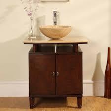 46 Inch Wide Bathroom Vanity by 29 Inch Modern Vessel Sink Vanity With Travertine Top Uvsr0808t29