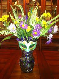 Michaels Crafts Wedding Decorations by My Mardi Gras Arrangement Added Garland Silk Flowers And Mask