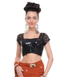 black sequin top women saree dress blouse fancy party elegant