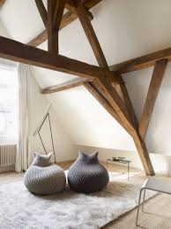 Loft Room With Bean Bag Chairs