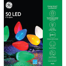 Ge 75 Ft Christmas Trees by Amazon Com Ge Energy Smart 50 Multicolor Led C 9 Holiday