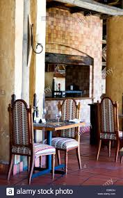 Interior Dining Room Of Botleirskop Game Lodge With Tile ...