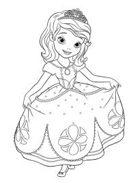 Click To See Printable Version Of Princess Sofia Curtseying Coloring Page