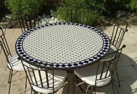 table ronde mosaique fer forge merveilleux table mosaique fer forge 4 table jardin mosaique