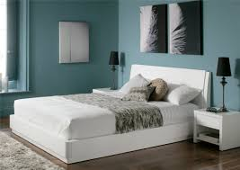 aden high gloss ottoman storage bed white painted wood