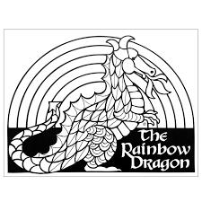 Dragon To Color Mini Poster