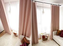 Pale Pink Blackout Curtain Drapery Panel