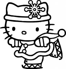 Hello Kitty Ice Skating Coloring Pages Pinterest In The Most Elegant Christmas