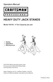 Craftsman 4 Ton Floor Jack 50156 by Search Air Compressor User Manuals Manualsonline Com