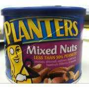 Planters Mixed Nuts Less than  Peanuts Calories Nutrition