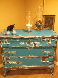 Vintage Tiger Oak Dresser by Love Love This One Antique Tiger Oak And Turquoise Distressed