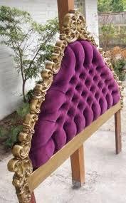 Purple Velvet King Headboard by Vintage Tufted Velvet Upholstered Headboard Full Or By Eskimosis