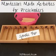 Montessori Math Activities For Preschoolers Spindle Box