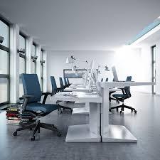 furniture white loor white wall modern desk blue swivel office