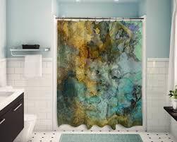 zeitgenössische duschvorhang abstrakte kunst badezimmer