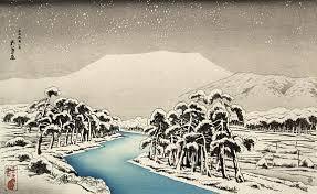 Japanese Winter Art Ibuki Mountain In Snow Hashiguchi Goyo