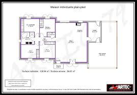 plan de maison plain pied 4 chambres plan maison plain pied 4 chambres 100m2