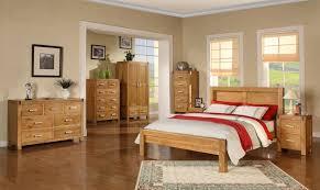 Solid Oak Bedroom Furniture Light Wood Finished Oak Wood Bedroom