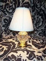 Waterford Lamp Shades Table Lamps by Antique Pittsburgh Reverse Painted Moon Seascape Banker U0027s Desk