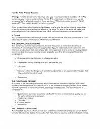 100 How To Write A Good Resume Create Nguonhangthoitrangnet