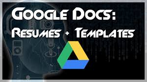 100 Create Resume For Free TUTORIAL How To A Using Google Docs Templates YouTube