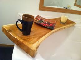 live edge cedar bath tub caddy luv this way cool practical