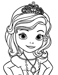 Free Coloring Page Disney Pages Princess Sofia For The First