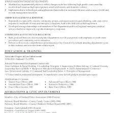 Law Enforcement Resume Skills Examples Resumes Templates Download Police Entry Level