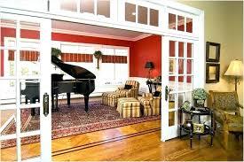Sliding French Doors Interior Luxury Dining Room Living