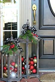 Holiday Decorating Front Porch Ball Ornaments In Rustic Lanterns Super Simple Door Design Home Ideas
