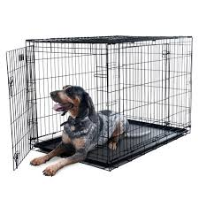 Kmart Dog Beds by Petmaker X Large 2 Door Foldable Dog Crate Cage 42 X 28 Inch