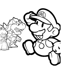 Paper Mario Coloring Pages Free Printable For Kids Pictures