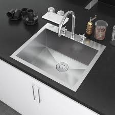 Overstock Stainless Kitchen Sinks by Exclusive Heritage 25 X 22 Inch Single Bowl Top Mount Drop In 16
